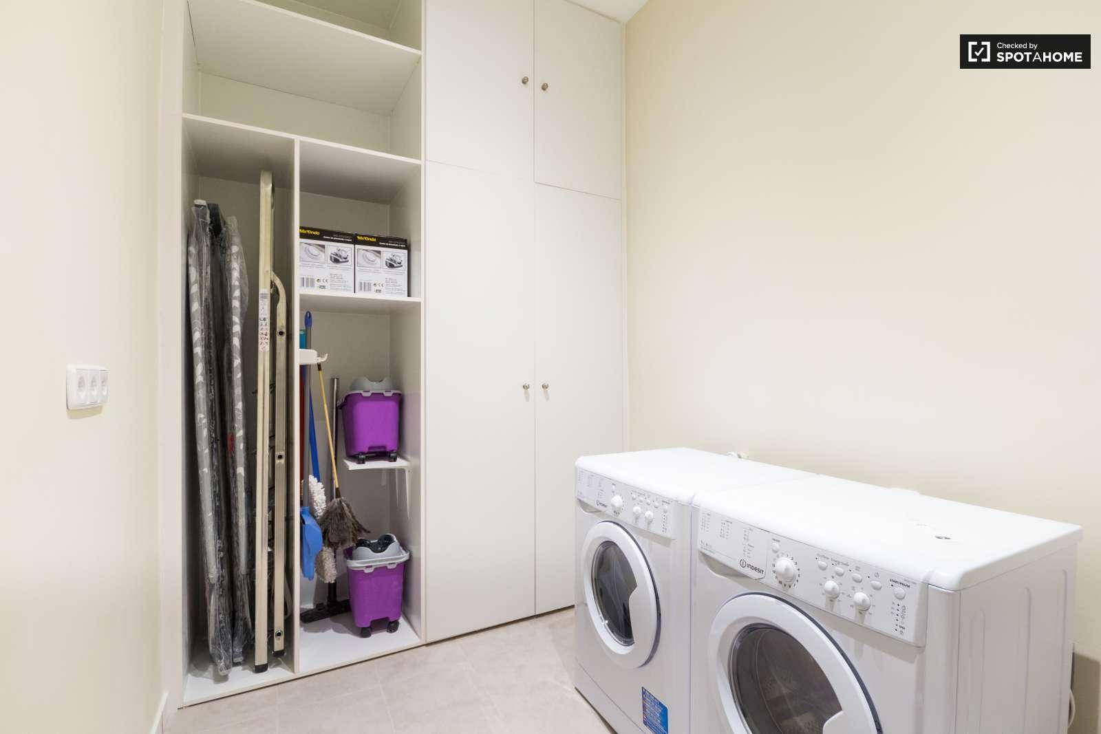Medidas para un cuarto de lavado