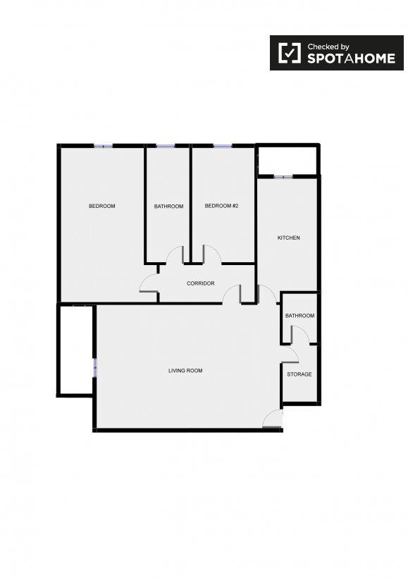 Ampio appartamento con 2 camere da letto nel quartiere di for Costo della costruzione di una casa con 3 camere da letto