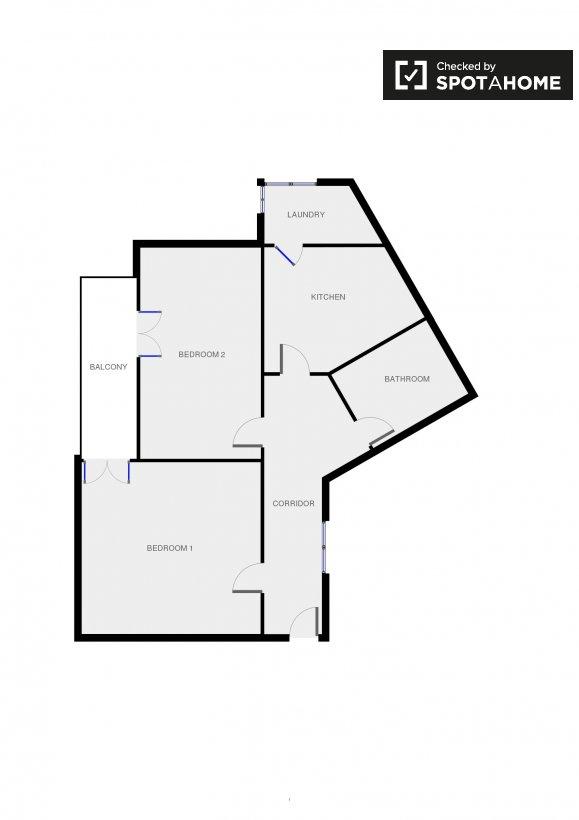 Stanza singola in un trilocale pigneto roma ref 103446 for Planimetria stanza