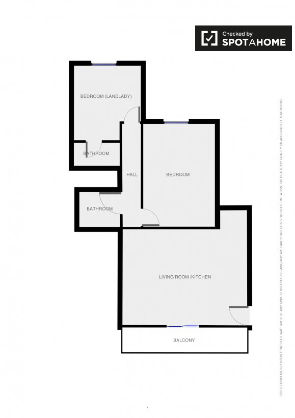 Floor plan  Floor plan  Bedroom. Room to rent in cosy 2 bedroom flat in Finglas in Dublin   Spotahome