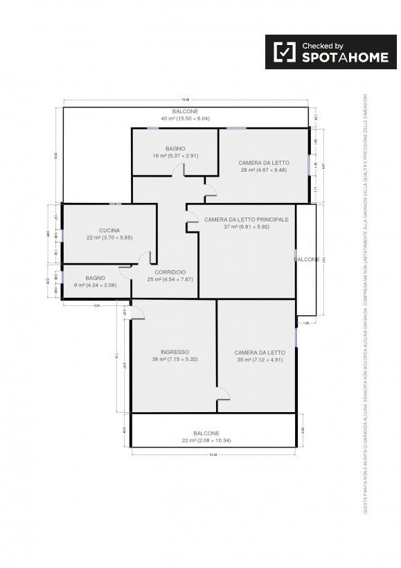 stanza privata in affitto in un appartamento tor vergata