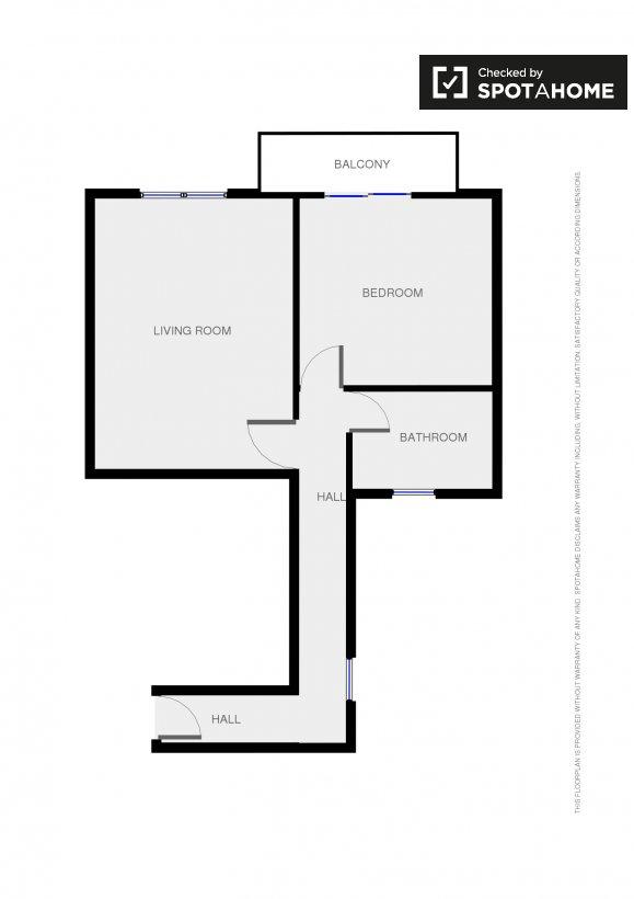 Piso de 1 habitaci n en alquiler en eixample dreta for Piso 1 habitacion barcelona