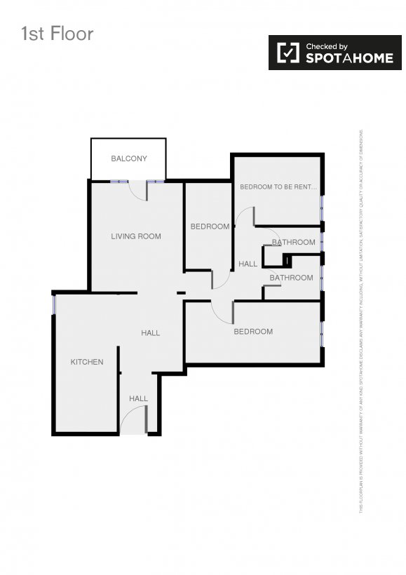 Stanza in un appartamento condiviso nel quartiere ostiense for Planimetrie della sala da pranzo della cucina aperta