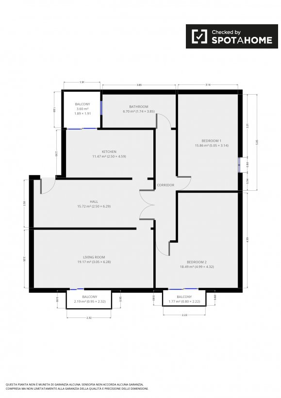 Stanza condivisa in appartamento con 2 camere da letto a Portuense ...