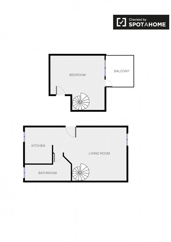 fantastic 2 room flat floor plan. Floor plan Fantastic 1 Bed Flat for Rent with Terrace  Rome City Centre ref