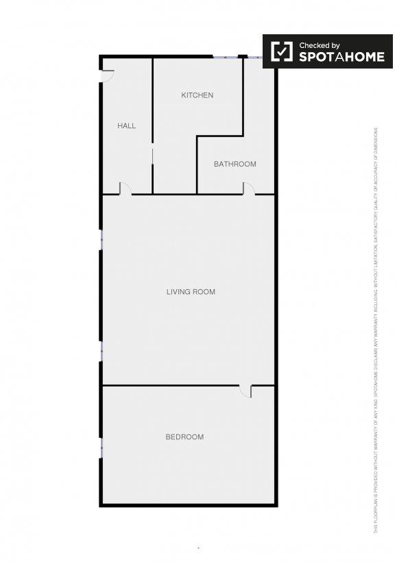 Piso de 1 habitaci n en alquiler en fuente del berro for Alquiler piso fuente del berro