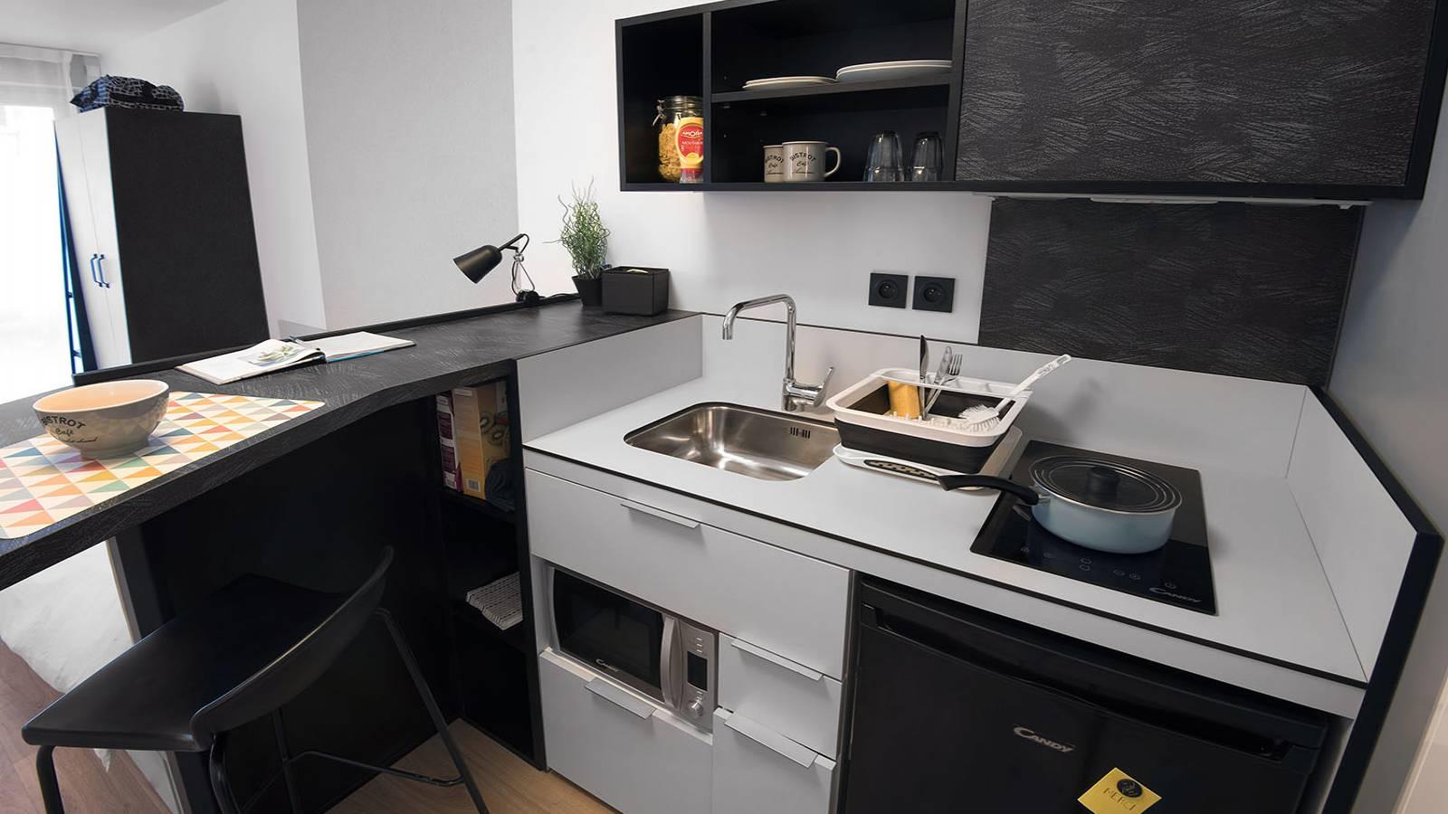 Studio kitchen area
