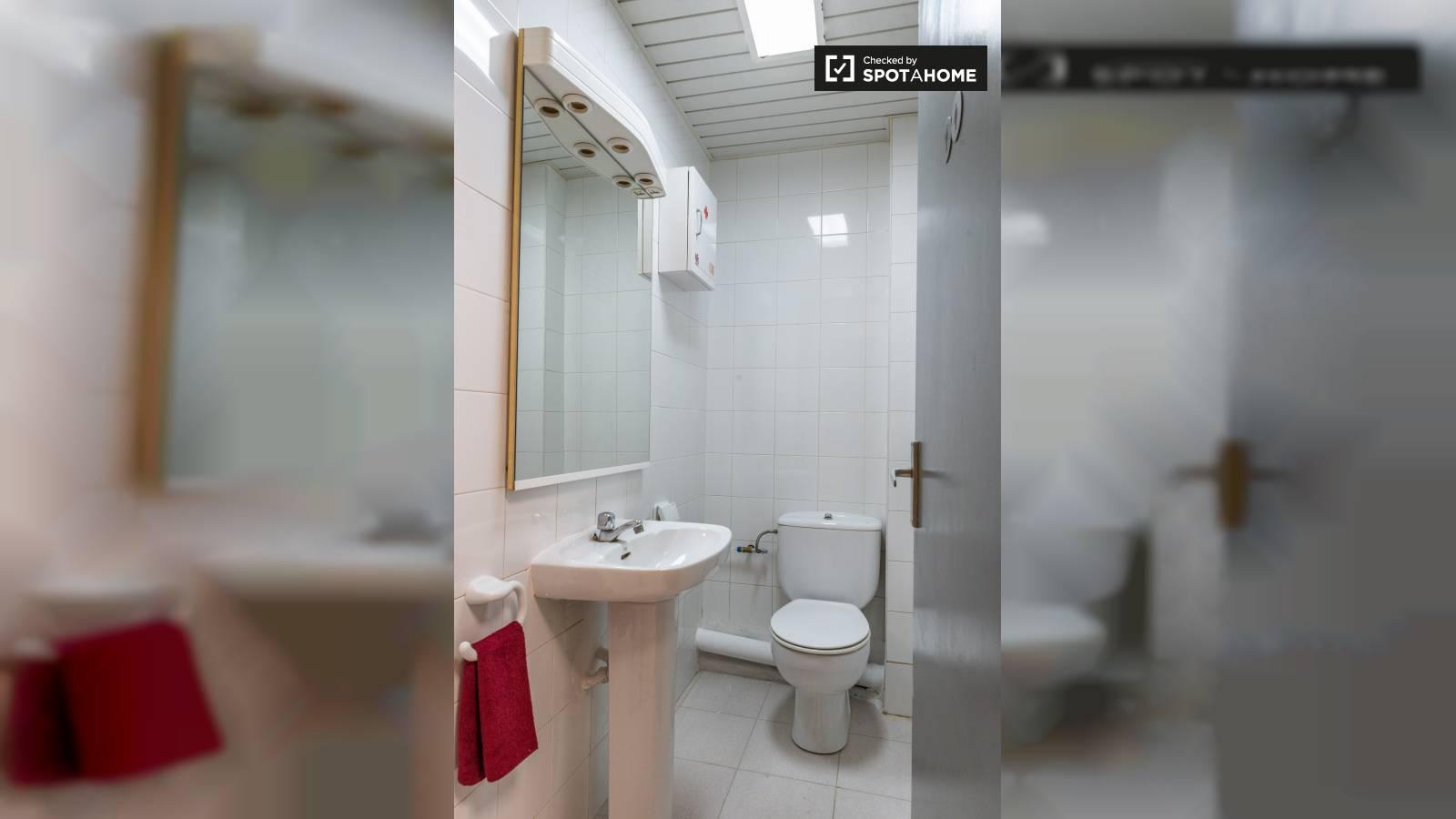 Salle de bain partagée - douche à l'intérieur du studio