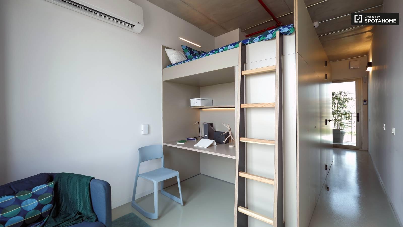 Loft sleeping area