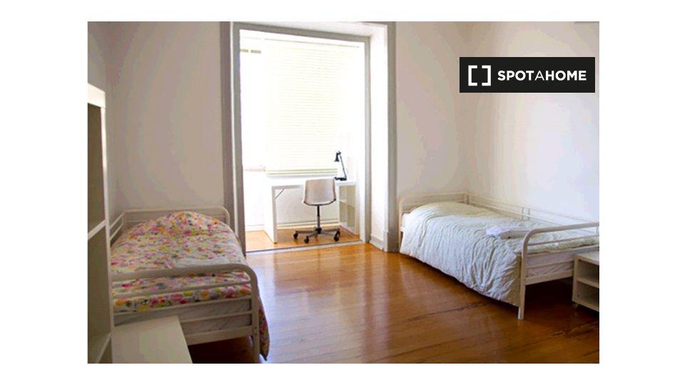 Camera in affitto ad Avenidas Novas Lisbona € 580 al mese