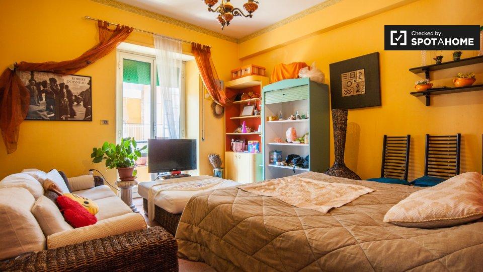 Grande camera da letto in affitto in appartamento con 2 ...