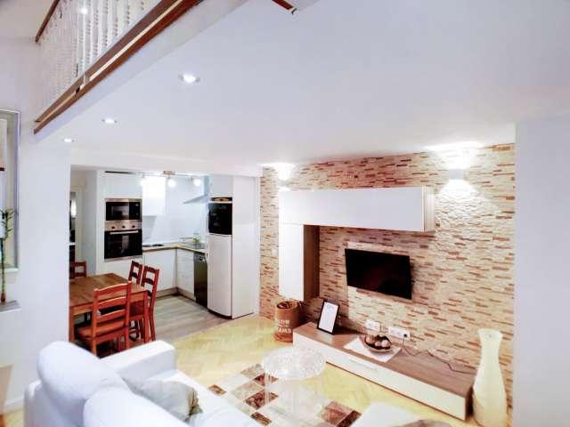 Contemporary studio apartment for rent in Centro, Madrid