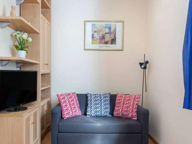 Nette 1-Zimmer-Wohnung zur Miete in Atocha, Madrid