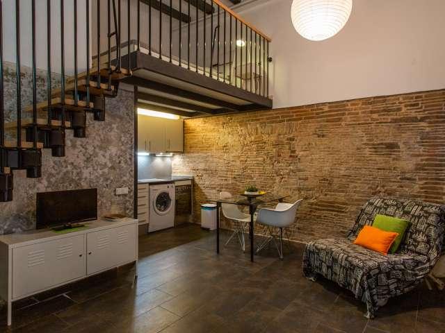 Cooles Studio zur Miete in El Raval, Barcelona