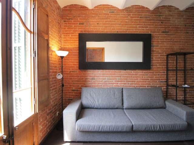 Wunderschöne 2-Zimmer-Wohnung zur Miete in Gràcia, Barcelona