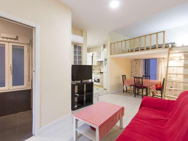Spacious studio apartment for rent in Retiro, Madrid