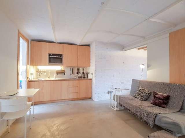 Moderne 1-Zimmer-Wohnung zu vermieten in Poblenou, Barcelona