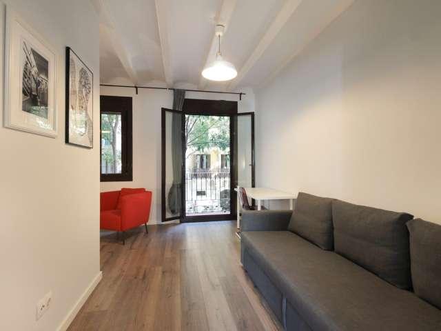 Modern studio apartment for rent, Santo Antoni, Barcelona