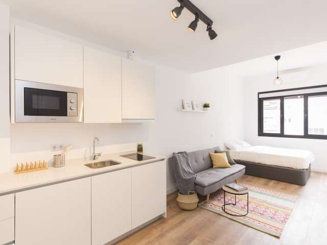 Stylish studio apartment for rent in Tetuán, Madrid