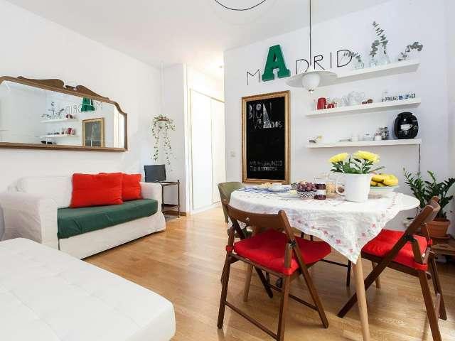 Stilvolle 1-Zimmer-Wohnung zur Miete in Centro, Madrid