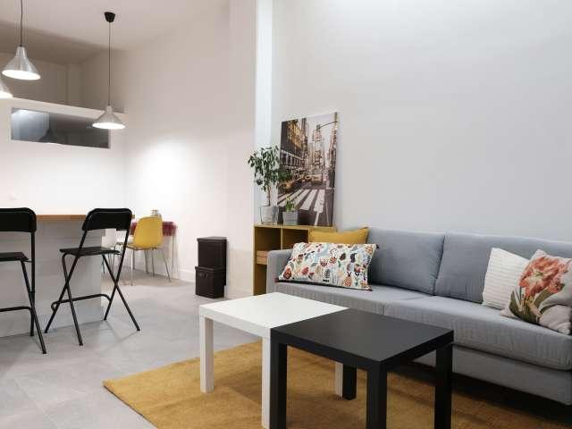 Moderne 1-Zimmer-Wohnung zur Miete in Guindalera, Madrid