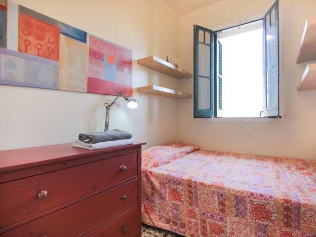 Bright room for rent in  2-bedroom apartment in Gràcia