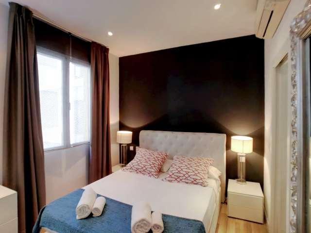 Amplio apartamento de 1 dormitorio en alquiler en el centro de Madrid