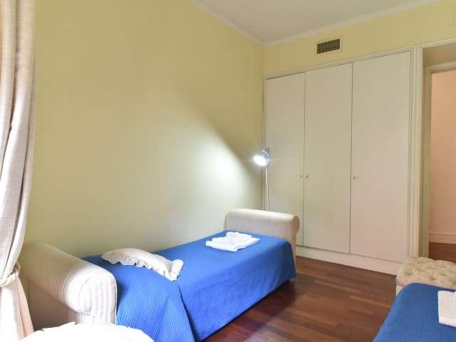 Bella camera in appartamento con 3 camere da letto a Flaminio, Roma