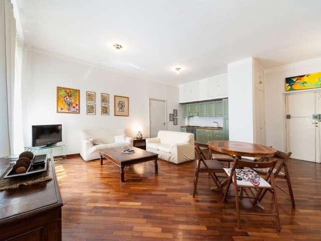 Meraviglioso appartamento con 1 camera da letto in affitto a Roma