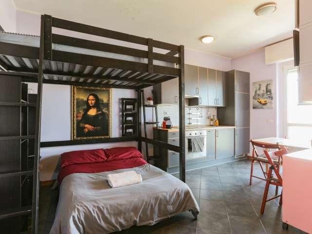 Modern studio apartment for rent in Barona, Milan