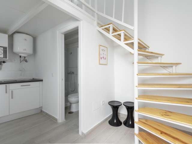 Moderno apartamento estudio en alquiler en Usera, Madrid.