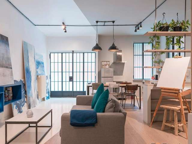 Artsy studio apartment for rent in Navigli, Milan