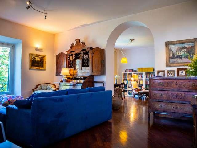Elegante appartamento con 1 camera da letto in affitto a Trastevere, Roma