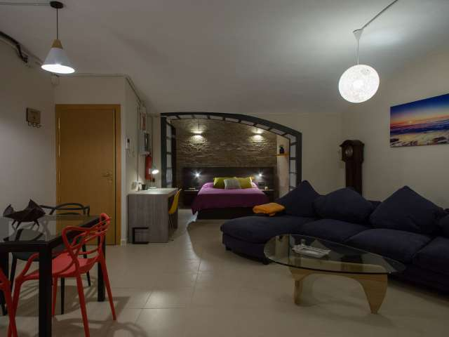 Modern studio apartment for rent in Sants, Barcelona