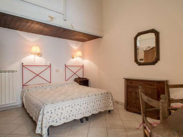 Charming studio apartment for rent in Trastevere, Rome