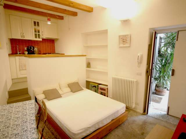 Compact studio apartment for rent in Navigli, Milan