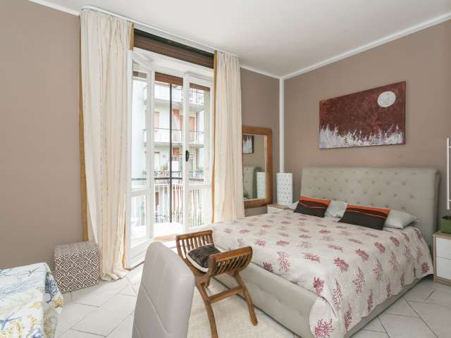 Beautiful studio apartment with balcony for rent in Ghisolfa