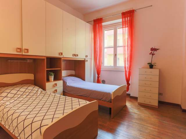 Beds in cozy shared room in 4-bedroom apartment in Ticinese