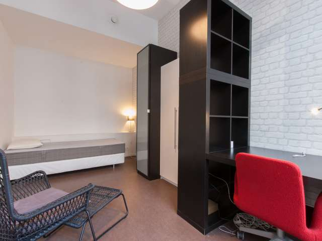 Decorated room in 2-bedroom apartment in Ixelles, Brussels