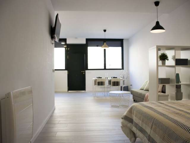 Contemporary studio apartment for rent in Tetuán, Madrid