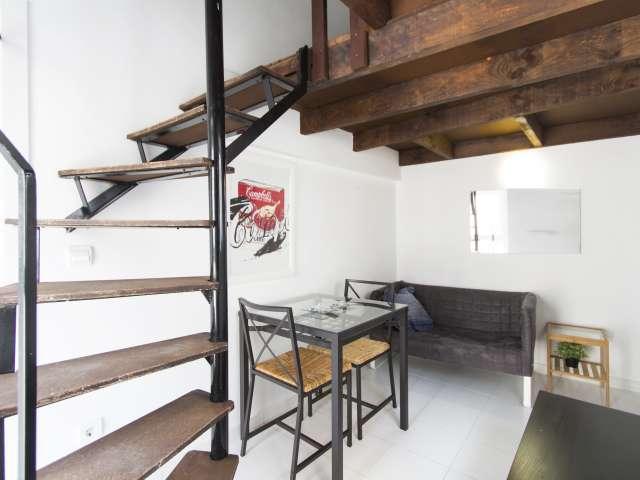 Unique studio apartment for rent in Tetuán, Madrid