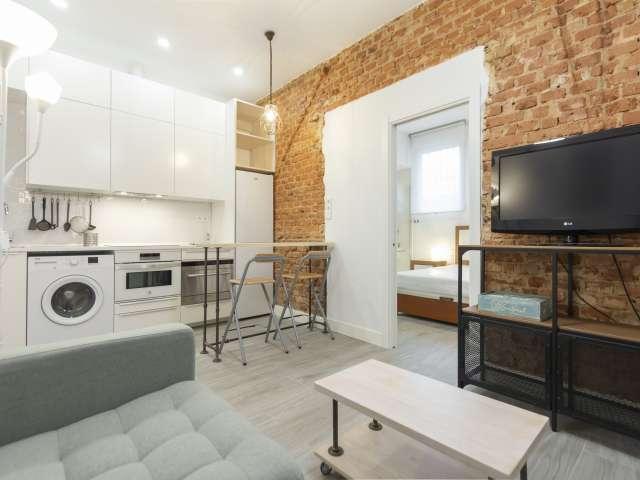 Moderne 1-Zimmer-Wohnung zur Miete in Atocha, Madrid