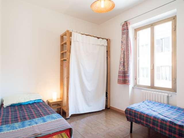 Stanza privata in appartamento con 4 camere da letto a Pigneto, Roma