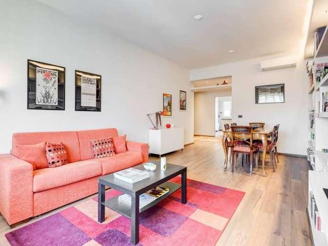 Elegante appartamento con 2 camere da letto con aria condizionata in affitto a San Giovanni