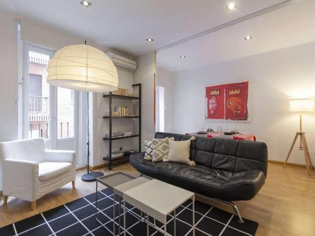 Moderne 1-Zimmer-Wohnung zur Miete in Malasaña, Madrid