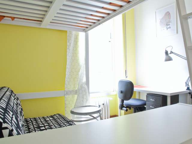 Huge room for rent in apartment in Parioli, Rome