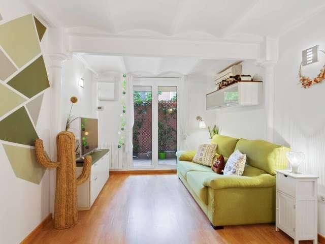 Modern 2-bedroom apartment for rent in Gràcia, Barcelona