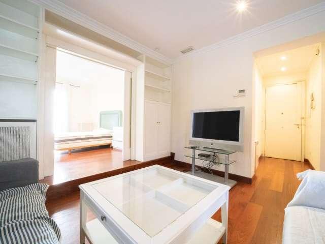Geräumige 2-Zimmer-Wohnung zur Miete in Chamartín, Madrid