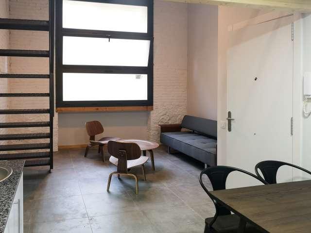 Terrific studio apartment for rent in El Clot, Barcelona