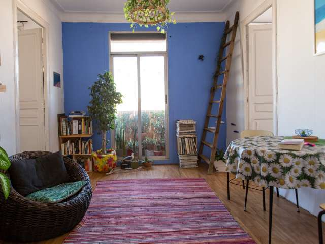 Charming room for rent in Gràcia, Barcelona
